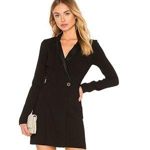 BCBGeneration Tuxedo Blazer Mini Dress in Black
